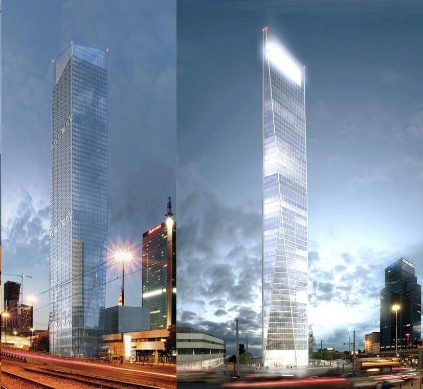 Najwyższy wieżowiec w Warszawie lillium 2