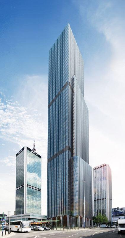Najwyższy wieżowiec w Warszawie lillium marriott