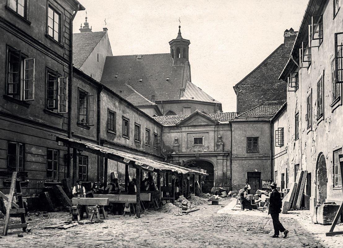 Podwórze kuchenne Zamku Królewskiego, 1925