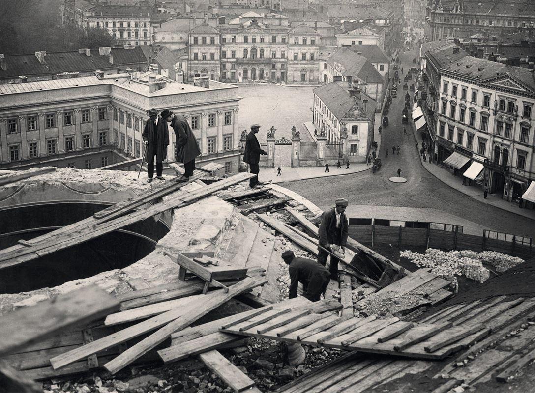 Rozbiórka prawsoławnego soboru Aleksandra Newskiego, 1926
