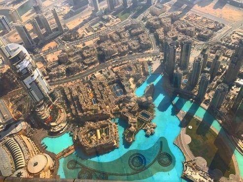 Widok z tarasu widokowego z Burj Khalifa/ fot Tomasz Reich/NowaWarszawa.pl