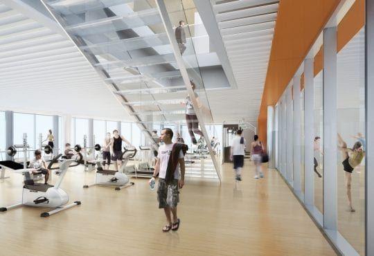 Wieżowiec Warszawa Mennica Legacy Tower centrum fitness