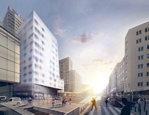 Wieżowiec Warszawa apartamentowiec w miejscu kina relax