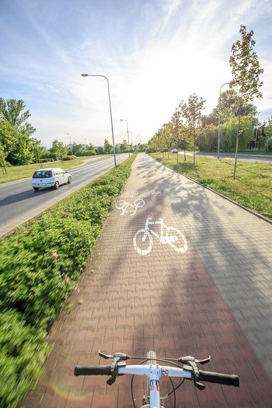 Dolny Mokotów przyjazny dla rowerzystów sciezka