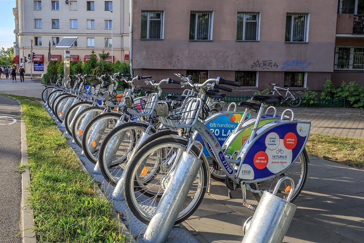 Dolny Mokotów przyjazny dla rowerzystów stacja veturilo