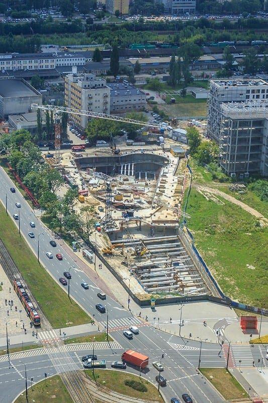 Warsaw Hub widok z lotu ptaka