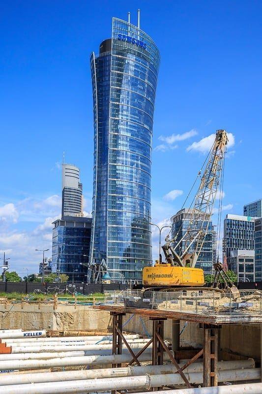 Warsaw Hub budowa Warsaw Spire