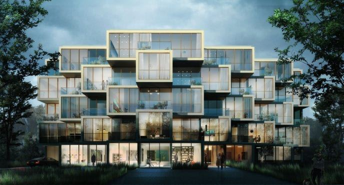 mieszkania żoliborz apartamentowiec potocka warszawa projekt