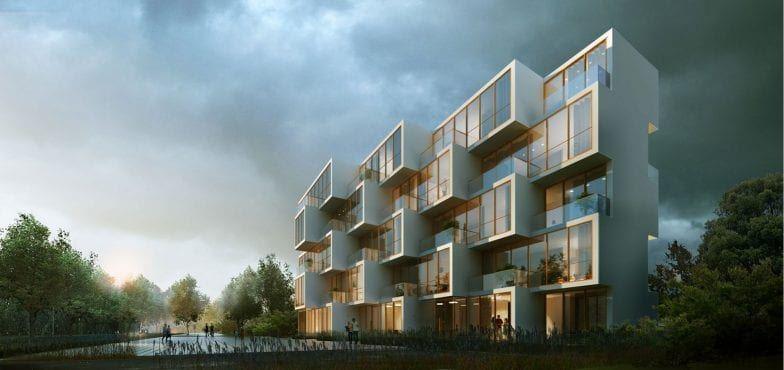 mieszkania żoliborz apartamentowiec potocka warszawa wizualizacja inwestycji