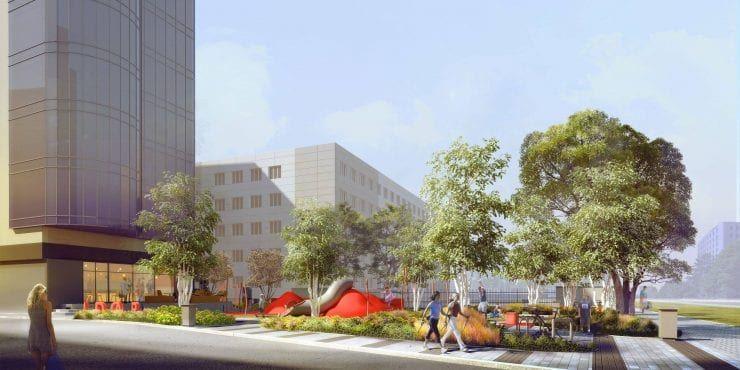 Adgar przestrzeń dla mieszkańców w centrum mokotowa wizualizacja