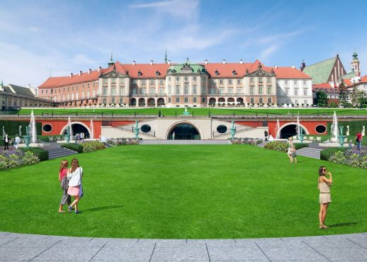 East side view, Kubicki Arcades of the Warsaw's Royal Castle (14th century), residence of the Polish monarchs. Poland