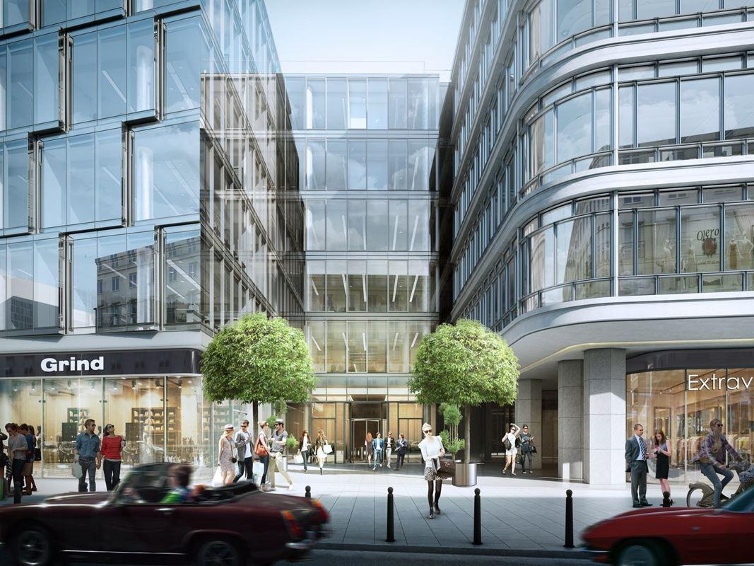biura warszawa śródmieście centralny dom towarowy zdjęcia z budowy