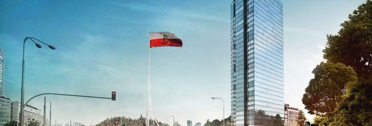 wieżowiec warszawa wola Liberty widok od ronda Radosława
