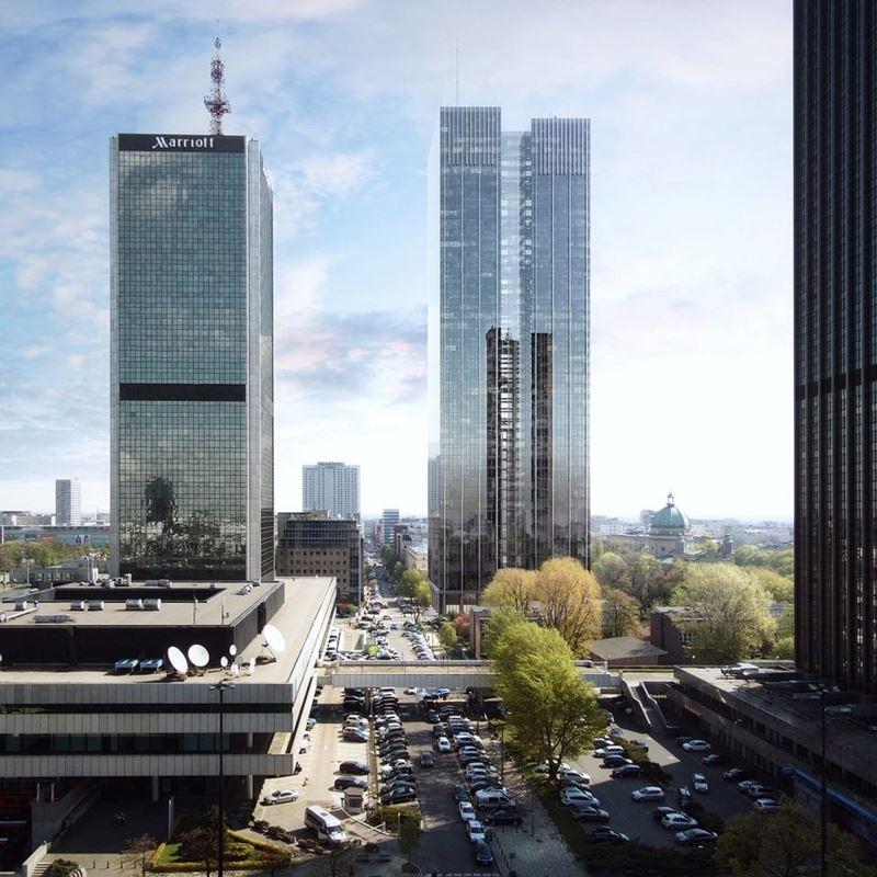 Wieżowiec Warszawa Śródmieście Roma Tower