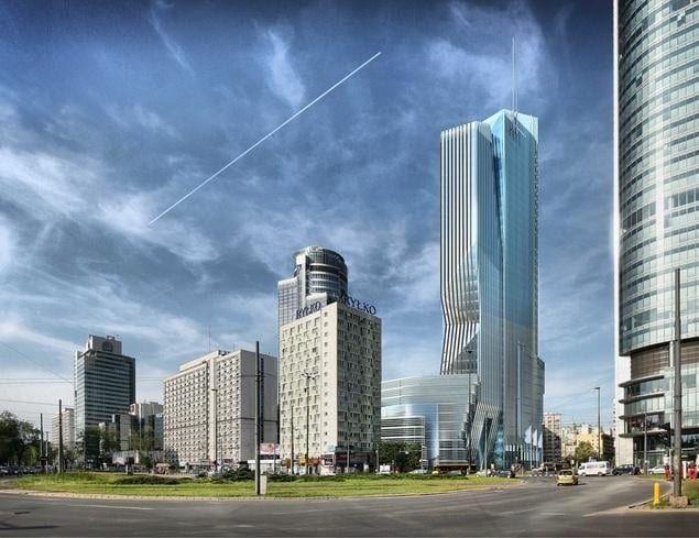 Wieżowiec Warszawa Wola PHN Tower wizualizacja