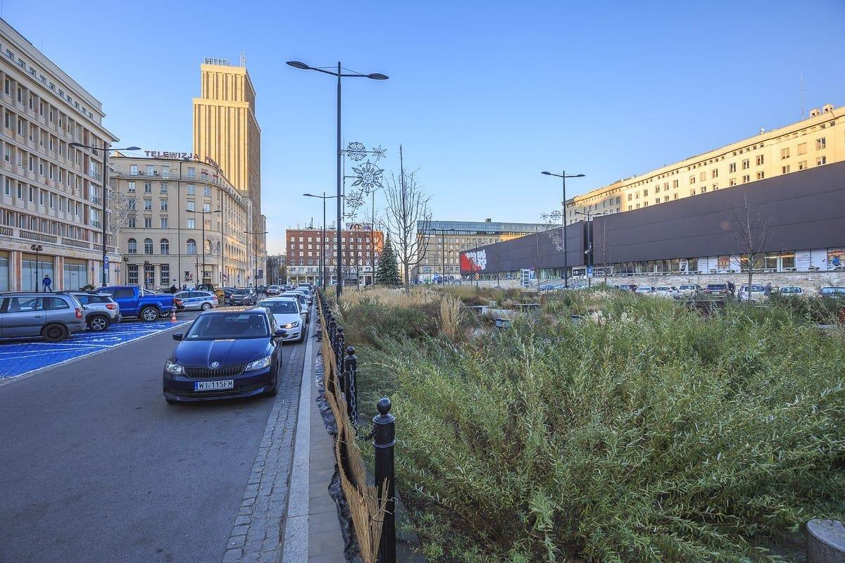 Plac Powstańców Warszawy po przebudowie.