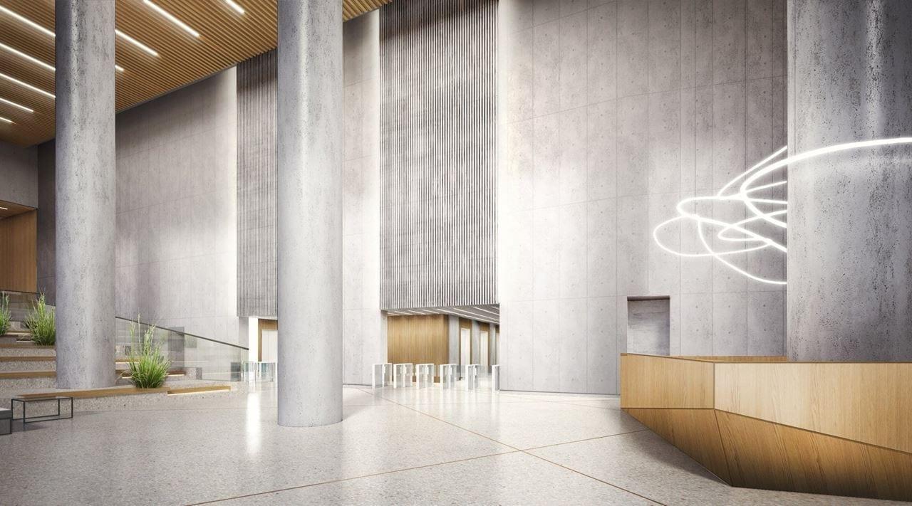 Lobby budynku będzie miało ponad 12 metrów wysokości. Skyliner - Karimpol.