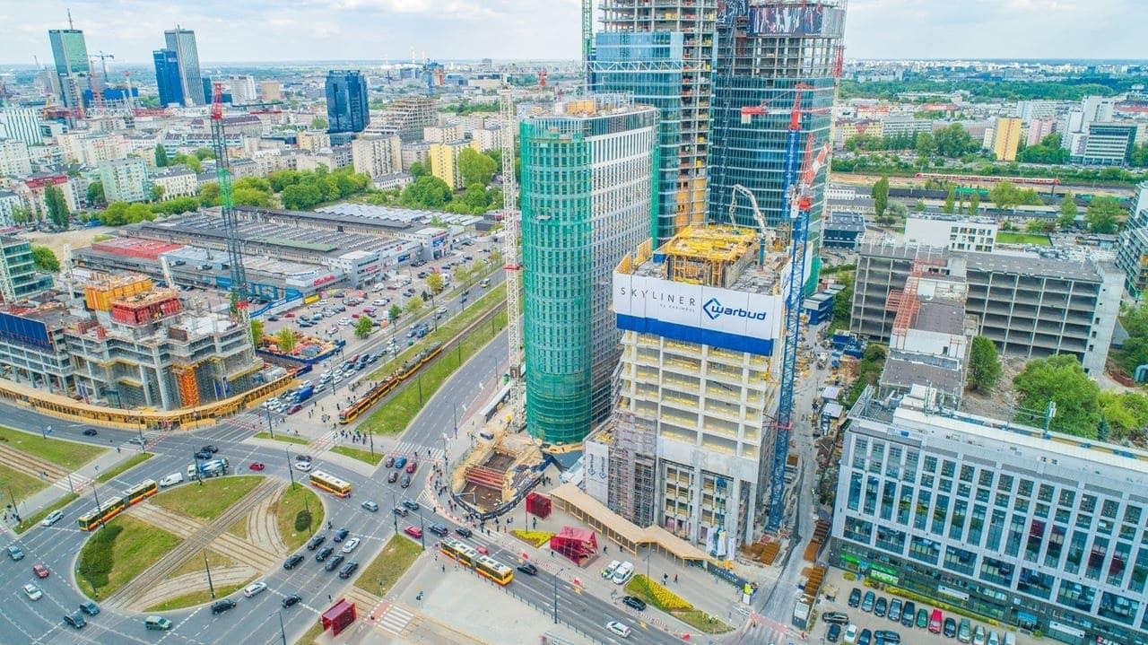 Rondo Daszyńskiego, to największy plac budowy w Warszawie. Skyliner - Karimpol.