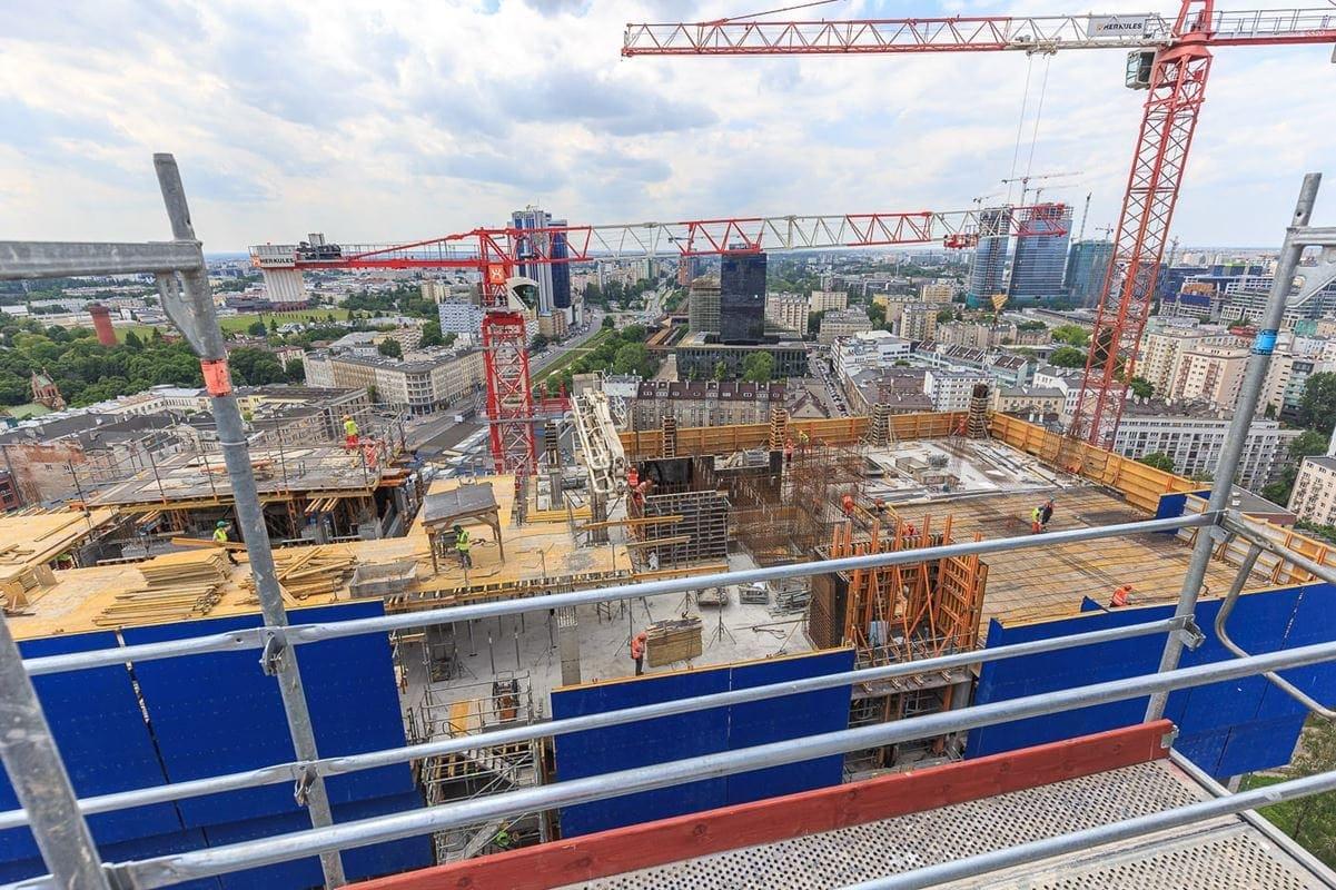 Budowa 90 metrowej wieży Varso 2.