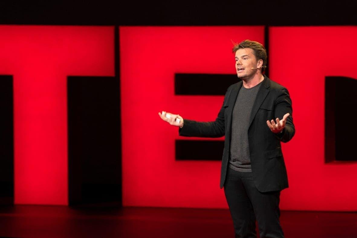 Bjarke Ingels speaks at TED2019: Bigger Than Us. April 15 - 19, 2019, Vancouver, BC, Canada. Photo: Ryan Lash / TED