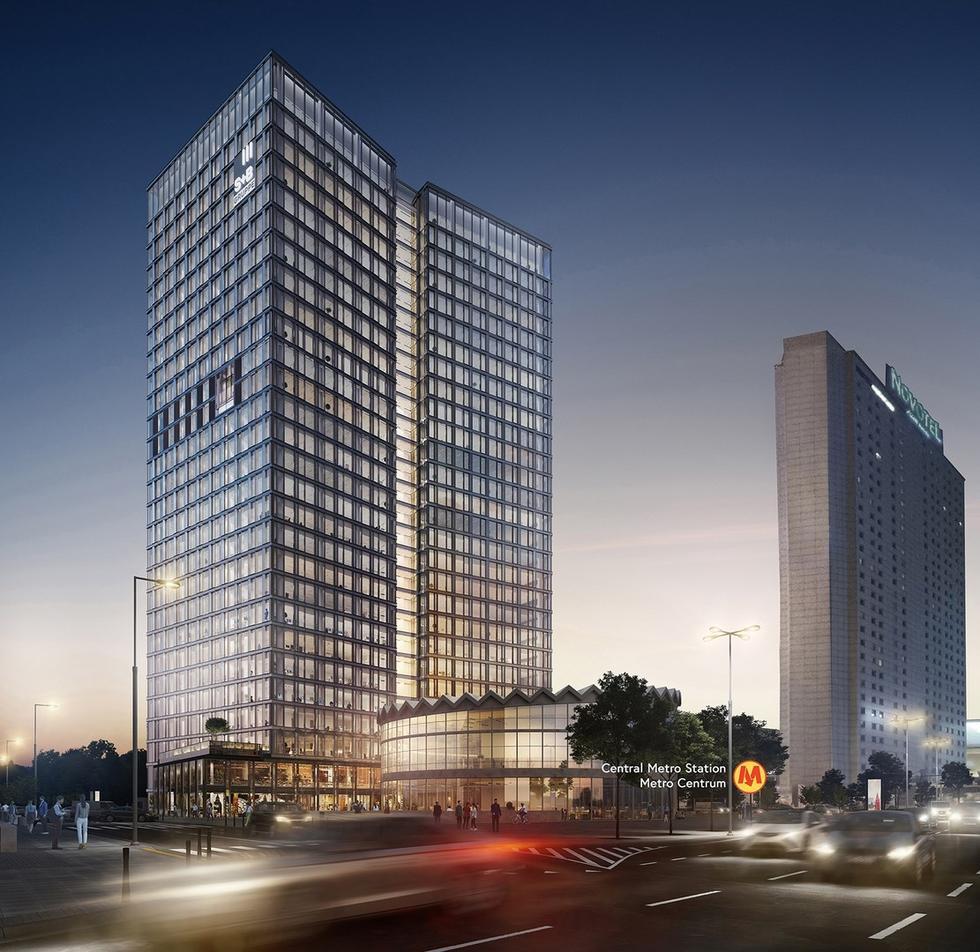 Widok Towers  - rondo Daszyńskiego.
