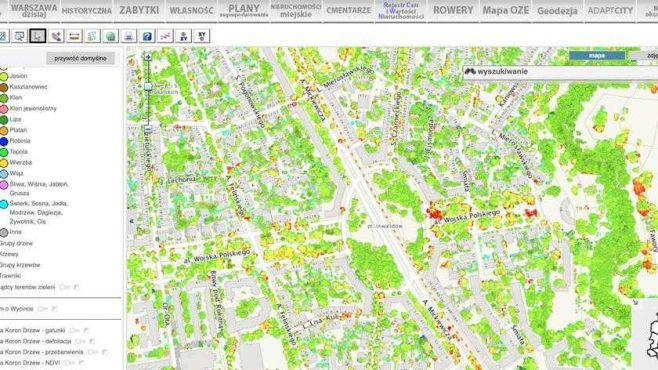Wirtualna Mapa Stolecznej Zieleni Infrastruktura Nowawarszawa Pl